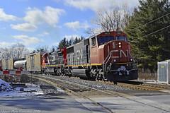 4601 (ontario photo connection) Tags: canadiannationalrailway cn winter railroad railway rails train locomotive locomotives balasub quaker stouffville gormley
