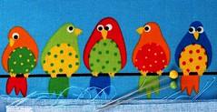 Funny birds cloth [Explored Mar 27, 2017] (G_E_R_D) Tags: macromondays clothtextile fabric stoff tuch birds bird vögel vogel