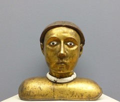 haut le corps (2) (canecrabe) Tags: reliquaire buste saint cuivre or émail bourgogne musée sculpture