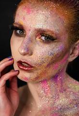 Ania (mazur.klaudia) Tags: glitter model beauty photomodel girl woman makeup artist art portrait canon 50mm