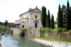 ° Concesa (° Ivan) Tags: concesa trezzo sulladda adda river shrine sanctuary canal martesana milano milan lombardia lombardy italia italy church catholic neoclassic water cypress