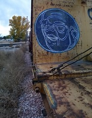 CLAWHAMR (۞Emptiness Of Light۞) Tags: clawhamr awe moniker streak art painting fall railroad colorado 2016