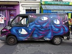 La Pangol-mobile (Archi & Philou) Tags: pangol graffitivan pangolmobile paris15 graffiti camionnette