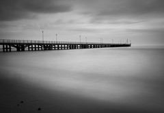 Loneliness (elisabartolini) Tags: pier fortedeimarmi lucca lonely water seaside sea seawater architecture nature naturalbeauty wanderlust wandering waiting blackandwhite bnw bw blackwhitephotography bnwlovers beautiful beautifuldestinations italy mysterious love exploring experimenting shadows sky canon canonphotography canonphotos canon700d canonlovers clouds sunset amateurphotography atmosphere amateurbnw skyscape photography passion takingpictures versilia b