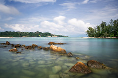 Transparent (Andy Bracey -) Tags: bracey andybracey thailand asia asian kohsamui thaiislands thai choengmonbeach beach coast longexposue leefilers bigstopper poloriser water sea islands rocks clouds choengmon landscape seascape
