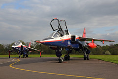 Two cones of Raspberry Ripple (Treflyn) Tags: raspberry ripple sepecat jaguar t2 zb615 harrier vaac xw175 raf cosford timeline events photo shoot