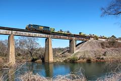 CSX W031-15 (Steve Hardin) Tags: cartersville ga emd sd502 mow csx wa railroad railway railfan train etowah river bridge trestle trackequipment westernatlantic