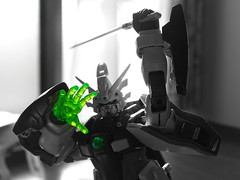 G Gundam2 Gガンダム2 (Shutter Chimp: Im back!) Tags: gundam toy figure g japan japanese sword green hobby glow hand monochrome part colour color ガンダム おもちゃ ホビー gガンダム ポーズ 緑 剣 鮮やか 手 モノクローム フィギュア colourkeying colourkey colorkey key gunpla ガンプラ
