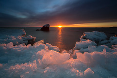 Spring_ (JLindroos) Tags: sun sunset sky clouds seascape ice cold snow water frozen long exposure rays horizon lee filters canon zeiss pori finland reposaari jlindroos