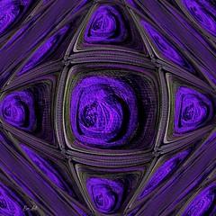 Foi - Faith (Emmanuelle Baudry - Em'Art) Tags: art artwork abstract artsurreal artnumérique artfantasy digitalart violet mauve purple fractal emmanuellebaudry emart carré squared square spiral spiritualité spirituality spacetime door porte vision vortex rêve dream
