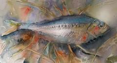 Pesciolino (sushipulla) Tags: fish pesce artwork art painting sea seascape watercolour watercolors