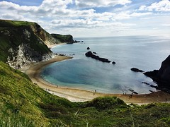 Lulworth (heathernewman) Tags: spring blue sea southwestengland coast southwestcoastpath lulworth durdledoor uk england dorset