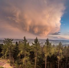 Unwetterrückseite (matthias_oberlausitz) Tags: wolke unwetter panorama bieleboh oberlausitz beiersdorf oppach wetter