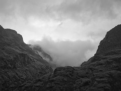 Glencoe Clouds (ShinyPhotoScotland) Tags: amazement appreciation areas art aspiration awe balance beautiful beinnfhada blackandwhite camera clouds colourgrading composite composition contrasts digitalgmic distance dramatic dulllight dynamic elegance emotion enfuse equipment filter flowing gearraonach gimp glencoe hdr highlands imposing landscape lens light lightanddark lines luminancehdr manipulated moment monochrome moody mountains nature negativespace numinous olympus1240mmf28 olympuspenf outlines peace photography places pure raw rawconversion rawtherapee rugged scotland senseofscale shapeandform shapely skyearth softlight space striking sunlight threesisters timelessness toned turbulence vista zen