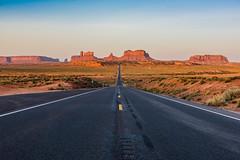 Highway 163 (Daxis) Tags: 163 desert highway highway163 milemarker13 monumentvalley summer sunrise unitedstates usa utah