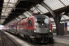 ÖBB RailJet 1116 209 on the blocks at Zurich HB (daveymills31294) Tags: öbb 1116 209 baureihe taurus zurich hb railjet