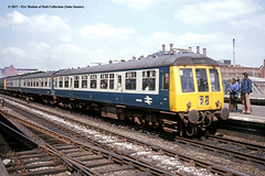 c.1970 - Shrewsbury, Shropshire. (53A Models) Tags: britishrail gloucester class119 crosscountry dmu dmsl m51099 diesel passenger shrewsbury shropshire train railway locomotive railroad