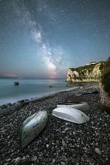 Freshwater bay summer Milky Way (Ainsleyiow1) Tags: longexposure nikon freshwaterbay nikond810 isleofwight samyang14mm milkyway