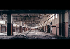 we.whisper.together (jonathancastellino) Tags: abandoned derelict decay buffalo ny usa leica m train station office ruin ruins whisper pillar window room long view pipe pipes dock