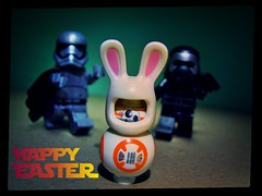 BB Bunny (LegoKlyph) Tags: lego custom easter starwars bunny bb8 sith trooper kylo droid