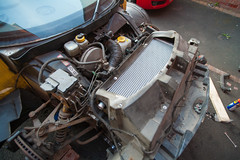 ZF2Y6493.jpg (Adam the ribless) Tags: repair racecar removal vx220 elise lotus ly36 sun clam fiberglass british vauxhall sportscar servicing radiator performance racing