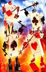 Wonderland Card Warriors Unite! (Baron Julius von Brunk) Tags: lego aliceinwonderland alice alicecards brunk magnifigures wonderland cardwarriors