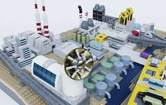 Colax mining colony (Sunder_59) Tags: lego moc render blender3d mecabricks space colony city scifi cargo spaceport industry micro