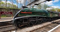 60009 Union of South Africa (Mister Oy) Tags: 60009 union south africa steam train locomotive loco elr eastlancsrailway bury railway green a4 lner classa4 power heritage tracks fujixpro2 fuji1024mm sirnigelgresley