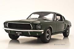 Ford Mustang GT 1968 (SpeedHunter XxX) Tags: ford car canon model 1968 mustang gt bullitt 118 fastback diecast autoart