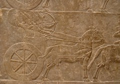 Relief from the palace of Assurbanipal at Nineveh, ca. 645 BCE (5) (Prof. Mortel) Tags: paris france louvre iraq nineveh mesopotamia assyrian assurbanipal