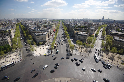 Champs Elysees from atop Arc de Triomphe
