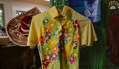 Shirt of the Day (BKHagar *Kim*) Tags: flowers art floral yellow shirt cat painting artwork paint creative tshirt sombrero multicolor riversong bkhagar