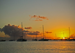 Simpson Bay Sunset, St. Martin (DrCarlosDominguez) Tags: