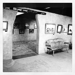 The Gallery in the Sun is open daily from 10-4, free admission. (DeGrazia Gallery in the Sun) Tags: arizona sun ted art architecture square artist gallery desert tucson paintings knife az adobe squareformat oil inkwell palette degrazia catalinas ettore nationalhistoricdistrict iphoneography instagramapp uploaded:by=instagram