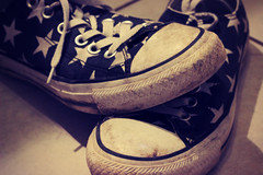 {one hundred and twelve} (catcat78) Tags: white black stars star pad converse starry apr 22nd toecap hpad 220414 catcat78