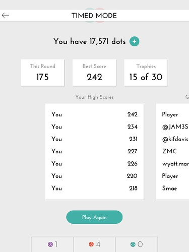 Dots: A Game About Connecting Score Board: screenshots, UI