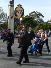 New Zealand Vets (mikecogh) Tags: newzealand wheelchair banner parade adelaide soldiers cbd veterans anzacday