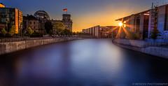 (Mer-Cee) Tags: berlin sonnenuntergang bluehour dri hdr regierungsviertel