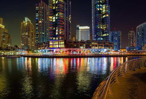United Arab Emirates - Dubai - Dubai Marina At Night - HDR - 20th April 2014-85_6_7-Edit