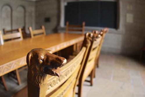 Irish Room: The Irish wolfhound heads