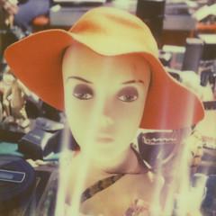 superstar (davebias) Tags: mannequin polaroid sx70 fleamarket polaroidweek