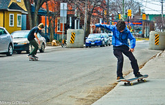 Concentration - Ottawa  04 14 (Mikey G Ottawa) Tags: street city people ontario canada colour youth concentration board ottawa hobby sidewalk teen skateboard trick activity now attention ado farbe couleur practise jugend concentrated inthezone inthenow passetemps mikeygottawa