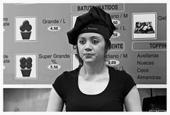 Baker / Long Day / Barcelona (rob4xs) Tags: barcelona baker bakershop bakkerij ramblas meisje girl chica bakker forner crepes zw bw waffels churitos churros monochrome blackandwhite catalonië catalunya spanje spain vakantie holiday españa vacances vacaciones cataluña