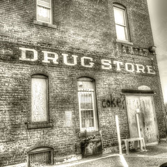 -- drug store -- (xandram) Tags: urban building brick drugstore tonemapped gardnerma