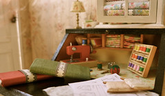 Vintage Sewing Desk Miniatures