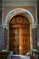 Ft church by Ybl, interior. Door from inside (elinor04 thanks for 25,000,000+ views!) Tags: door building church architecture hungary interior style architect ornaments romantic portal eclectic ornamentation 1845 ybl ft yblmikls