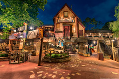 All Quiet on the Frontier (TheTimeTheSpace) Tags: night disney disneyworld waltdisneyworld magickingdom splashmountain brerrabbit brerbear frontierland songofthesouth brerfox nikond800