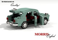 Morris Oxford II - 1954 (lego911) Tags: auto uk england classic car sedan model lego britain render 1954 ii oxford 1950s gb mk2 morris saloon 78 challenge bmc cad lugnuts mkii povray moc ldd miniland placeseveryone lego911