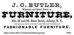 jc butler furniture 96 and 98  state st  1860s (albany group archive) Tags: albany ny 1869 jc butler furniture oldalbany history