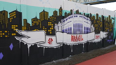 Binho (Projeto 4km de Graffiti, Copa do Mundo, Arena São Paulo, Brasil, Maio 2014) (FRED (GRAFFITI @ BRAZIL)) Tags: brazil streetart brasil graffiti spray sampa sp brasileiro grafite artederua binho copadomundo grafiteiro itaquerão projeto4km